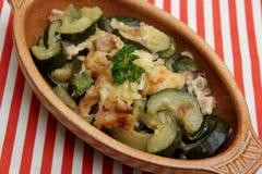 Eintopfgericht der Zucchini Stockbilder