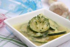Eintopfgericht der Zucchini und der Kartoffeln Lizenzfreie Stockfotografie