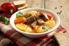 Eintopfgericht mit Fleisch und Gemüse Lizenzfreie Stockfotografie
