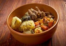 Eintopfgericht mit Karotten und Kartoffeln Stockfoto