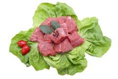 Eintopfgerichtrindfleisch auf weißem Hintergrund lizenzfreie stockfotografie