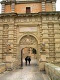 Eintrag in Mdina in Malta lizenzfreie stockbilder