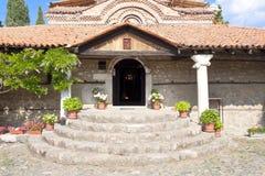 Eintrag zur alten Kirche - Ohrid lizenzfreie stockbilder