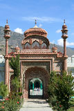 Eintrag zur Chitral Moschee Stockbilder