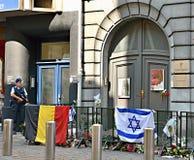 Eintritt im jüdischen Museum von Belgien Stockbild