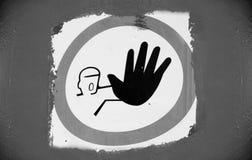 Eintritt verbotenes Zeichen 6, kommen nicht herein, halten ab Stockfotografie