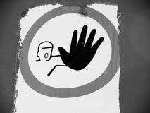 Eintritt verbotenes Zeichen 8, kommen nicht herein, halten ab Stockfotos