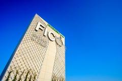 Eintritt Weltdes italienischen Lebensmittelgeschäfts Fico Eataly im Bologna Italien stockbilder