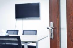Eintritt zum Konferenzzimmer Stockbilder