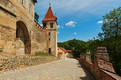 Eintrittsgruppe von Krivoklat-Schloss lizenzfreies stockfoto