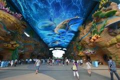 Eintrittsstraße des Ozeanparks Stockbild