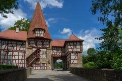 Eintry nannte Roedelseer-Tor zum Dorf Iphofen Stockbild