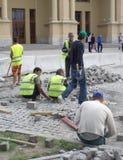 Einwandernde Arbeitskräfte von Mittelasien in Russland Stockfoto