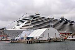 Einweihung und Produkteinführung von MSC Seaview ist ein Kreuzschiff stockbild