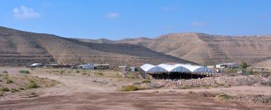 Einzelbetrieb im Wüste Negev Israel Stockbilder