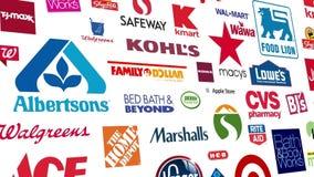Einzelhandel brandmarkt Logo Loop lizenzfreie abbildung
