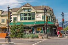 Einzelhandelsgeschäft-Architektur von Banff Lizenzfreies Stockbild