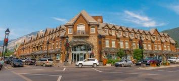 Einzelhandelsgeschäft-Architektur von Banff Stockbild
