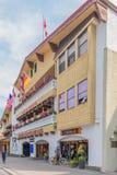 Einzelhandelsgeschäft-Architektur von Banff Stockbilder