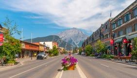 Einzelhandelsgeschäft-Architektur von Banff Lizenzfreie Stockfotos