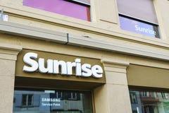 Einzelhandelsgeschäft der Sonnenaufgang-Kommunikationen Lizenzfreies Stockbild