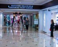 Einzelhandelsgeschäfte im Flamingo Hilton Hotel u. im Erholungsort Stockfotos