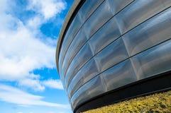 Einzelheit der hydrokonzertarena in Glasgow. lizenzfreie stockfotos