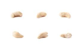 Einzelne Acajounüsse lokalisiert Stockbilder