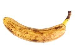 Einzelne alte gelbe Banane Stockfotos