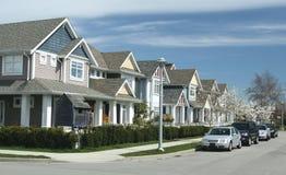Einzelne Familienheime Stockbild