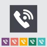Einzelne flache Ikone des Telefons Stockfoto