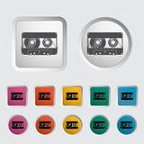 Einzelne Ikone der Audiokassette. Lizenzfreie Stockfotografie