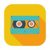 Einzelne Ikone der Audiokassette Lizenzfreie Stockbilder