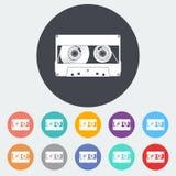 Einzelne Ikone der Audiokassette Stockfotografie