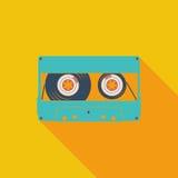 Einzelne Ikone der Audiokassette Stockbild