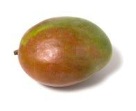 Einzelne Mangofrucht getrennt auf weißem Hintergrund stockbild