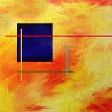 Einzelne quadratische Malerei Stockfotos
