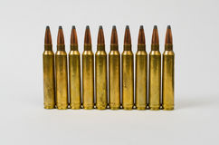 Einzelne Reihe von Kugeln Stockbild