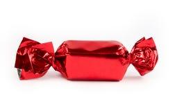 Einzelne rote Süßigkeit trennte Lizenzfreies Stockbild
