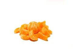 Einzelne Tangerine und Segmente Stockbild