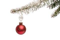 Einzelne Weihnachtsverzierung Lizenzfreies Stockbild