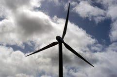 Einzelne Windmühle stockbild