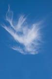 Einzelne Wolke der großen Höhe Stockfotos