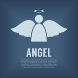 Einzelner Angel Symbol Lizenzfreies Stockfoto