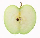 Einzelner Apple mit Scheibe Lizenzfreie Stockfotografie