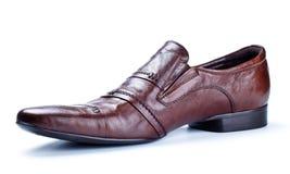 Einzelner brauner Schuh Lizenzfreie Stockfotografie