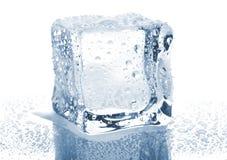 Einzelner Eiswürfel stockfoto