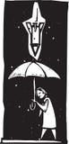Einzelner Flugregenschirm Stockfotografie