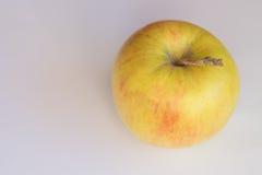 Einzelner gelber Apfel Stockfotografie