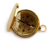 Einzelner goldener Kompass Lizenzfreies Stockbild